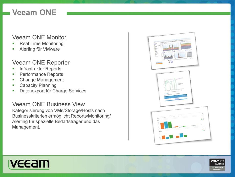 für Charge Services Veeam ONE Business View Kategorisierung von VMs/Storage/Hosts nach