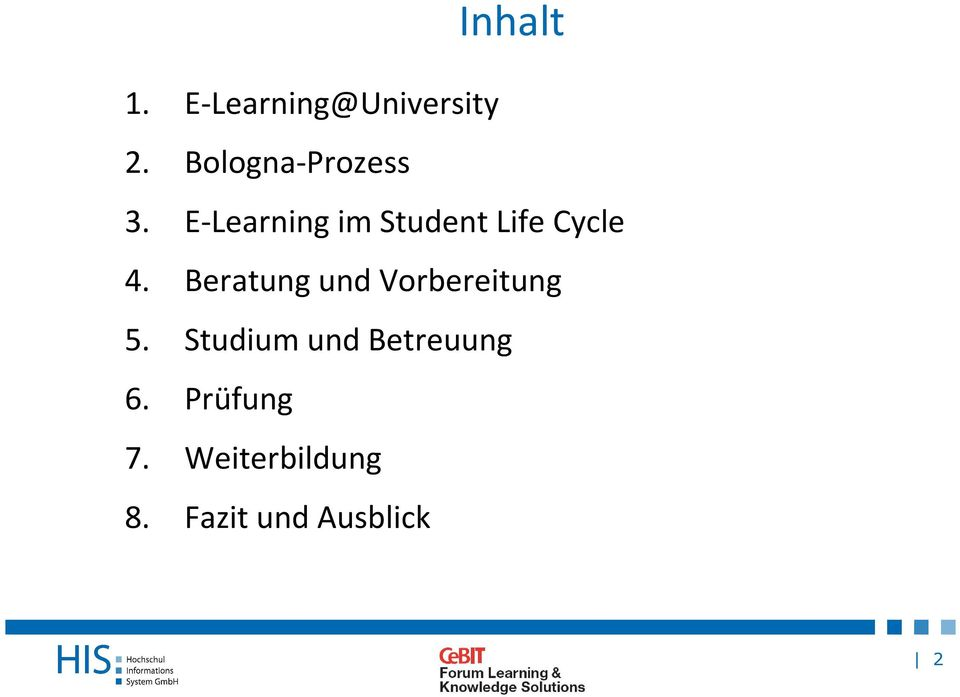 E-Learning im Student Life Cycle 4.
