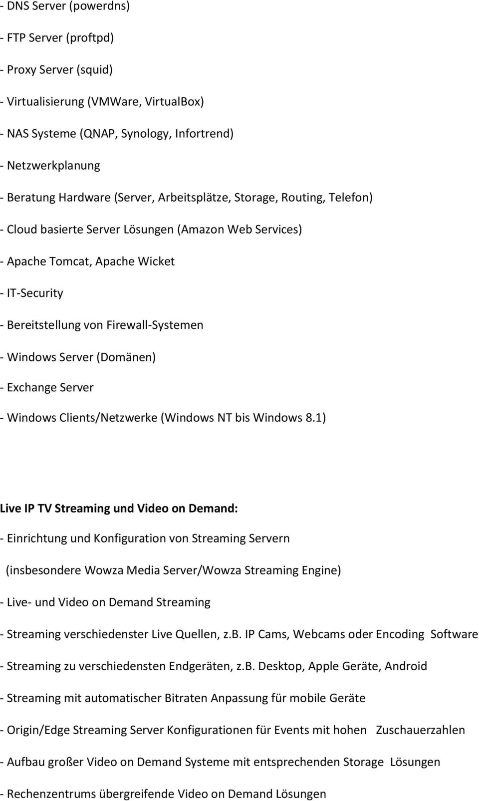 (Domänen) - Exchange Server - Windows Clients/Netzwerke (Windows NT bis Windows 8.