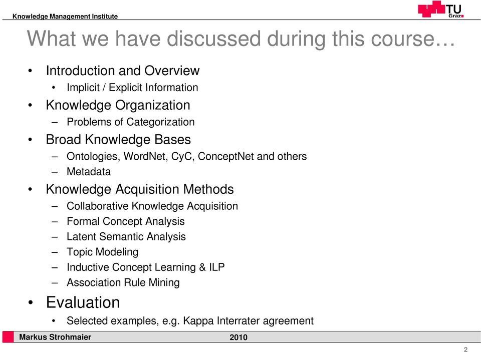 Knowledge Acquisition Methods Collaborative Knowledge Acquisition Formal Concept Analysis Latent Semantic Analysis