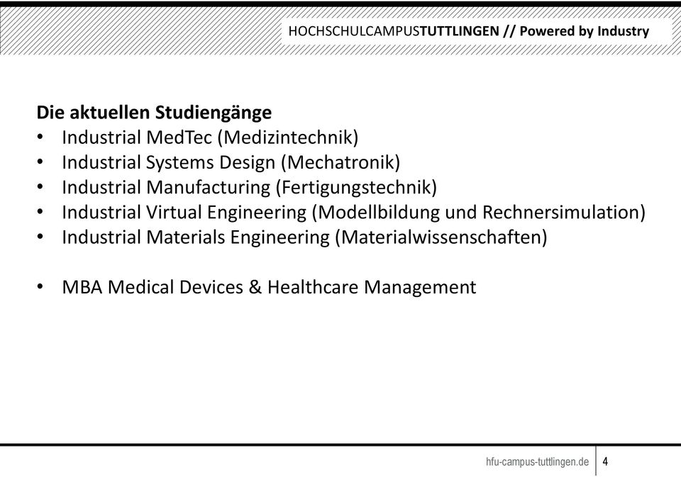Engineering (Modellbildung und Rechnersimulation) Industrial Materials Engineering