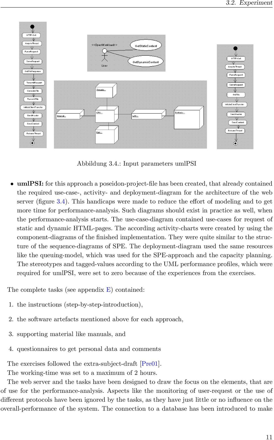 the web server (figure 3.4). This handicaps were made to reduce the effort of modeling and to get more time for performance-analysis.