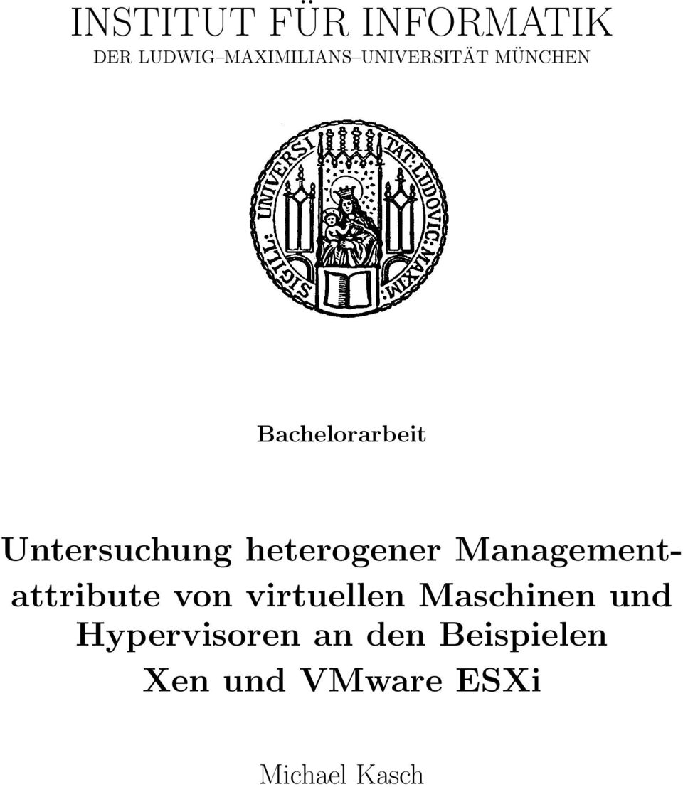 heterogener Managementattribute von virtuellen
