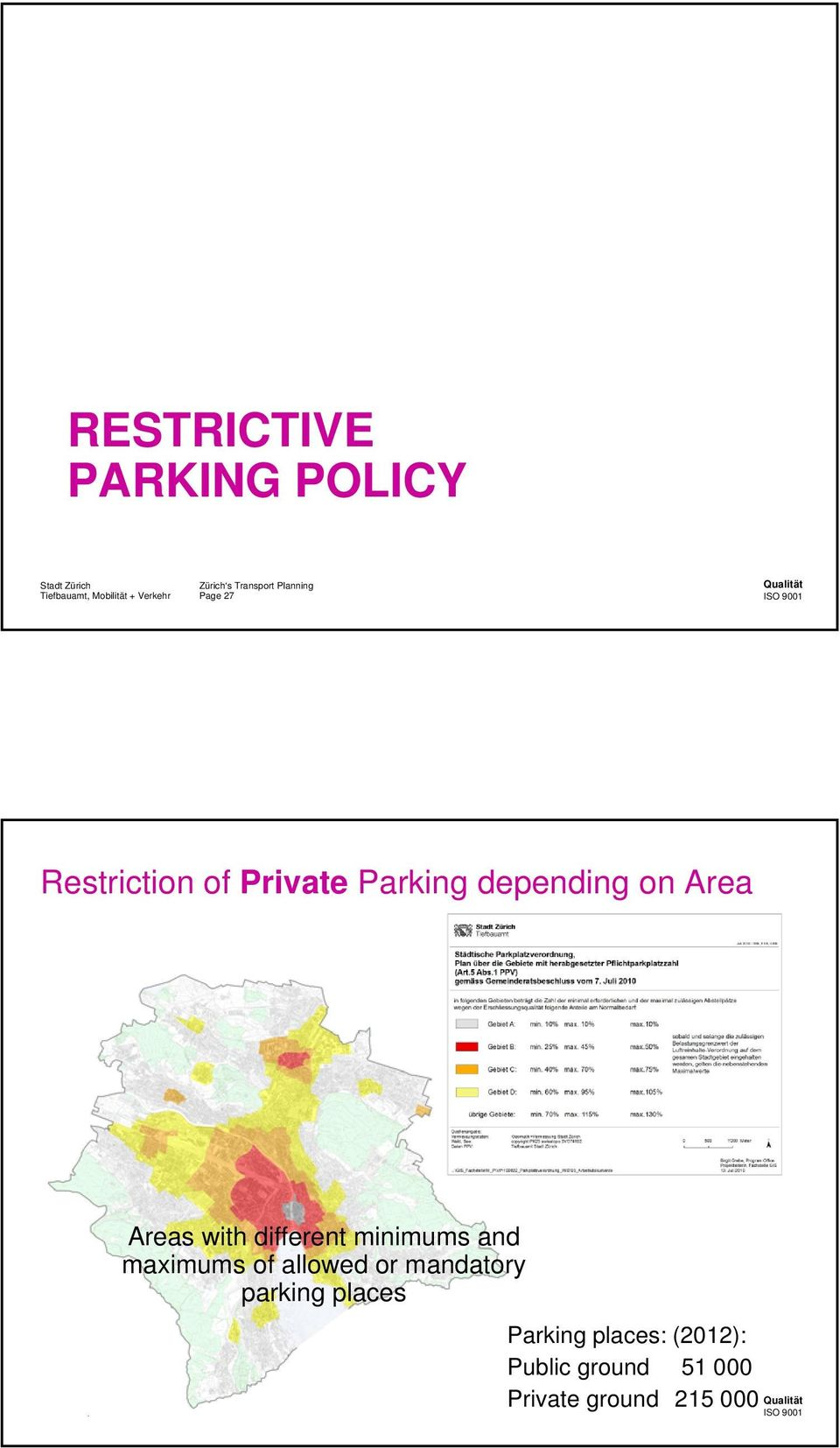 maximums of allowed or mandatory parking places Page 28