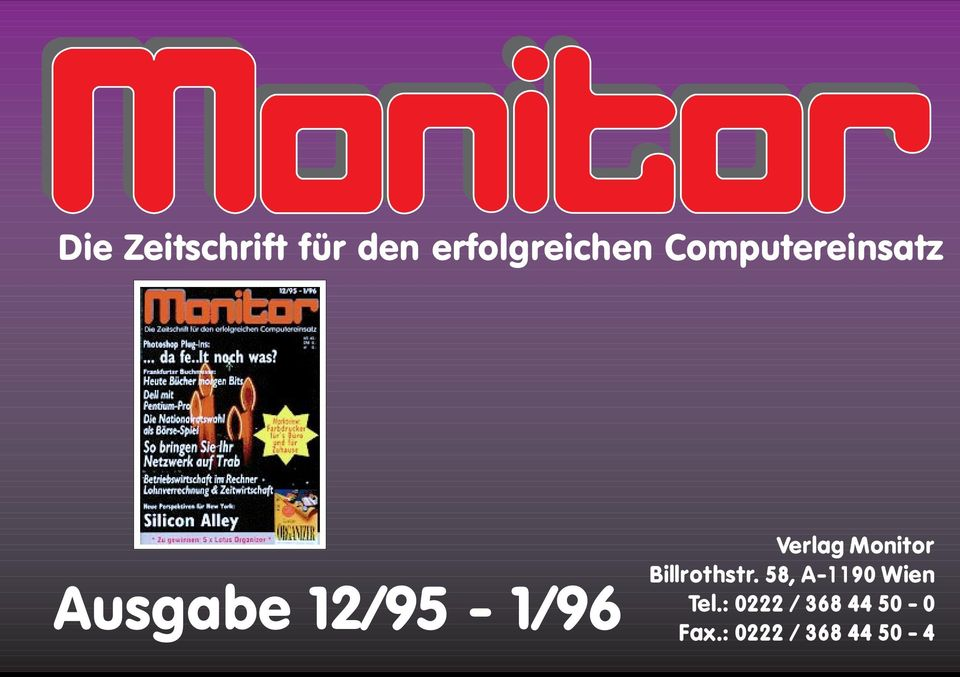 Monitor Billrothstr. 58, A-1190 Wien Tel.