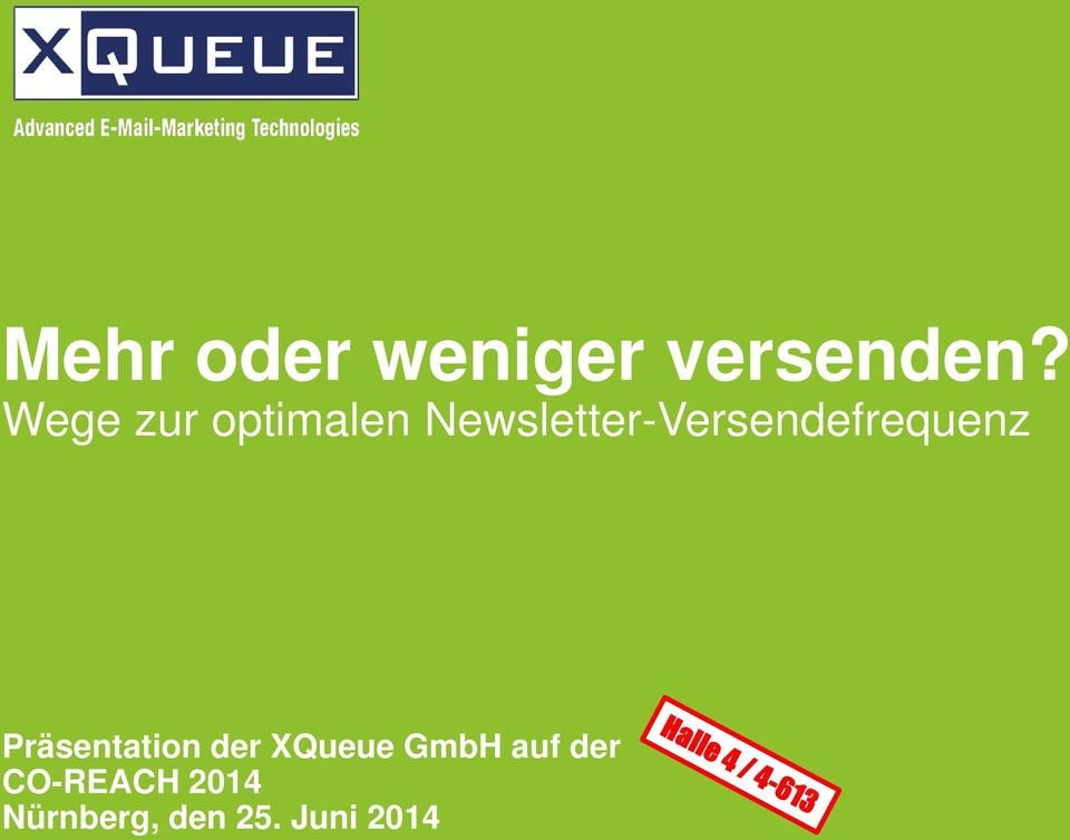 Newsletter-Versendefrequenz