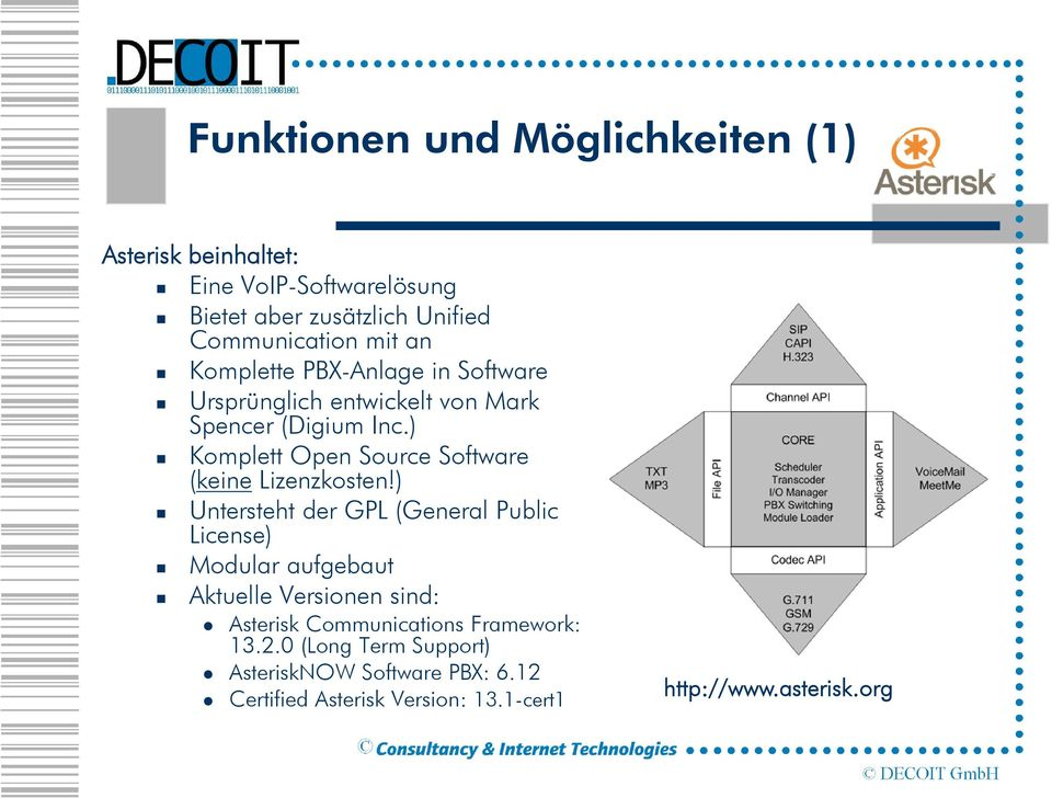 ) Komplett Open Source Software (keine Lizenzkosten!