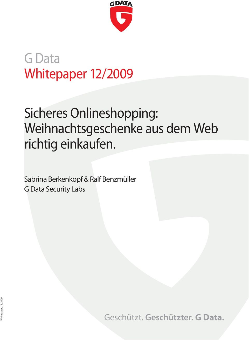 Sabrina Berkenkopf & Ralf Benzmüller G Data Security
