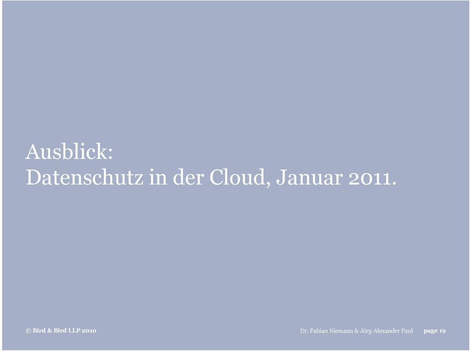 in der Cloud,