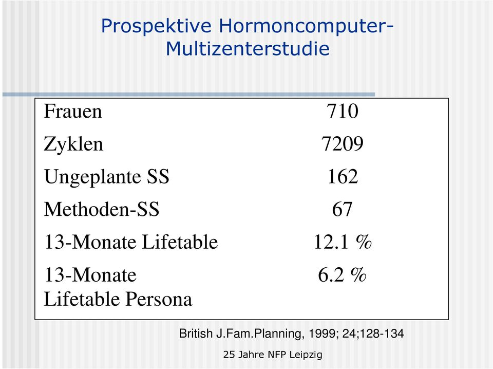 Methoden-SS 67 13-Monate Lifetable 12.