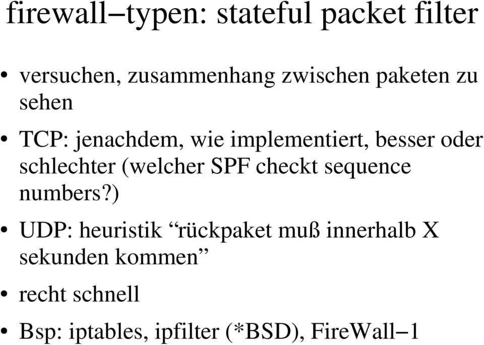 (welcher SPF checkt sequence numbers?
