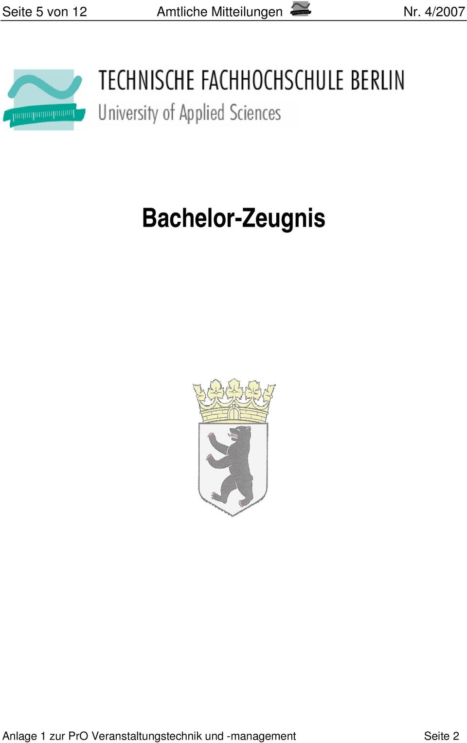 4/2007 Bachelor-Zeugnis Anlage