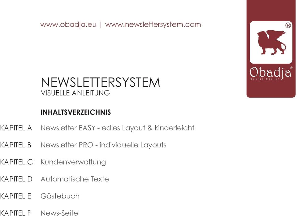 EASY - edles Layout & kinderleicht Newsletter PRO -