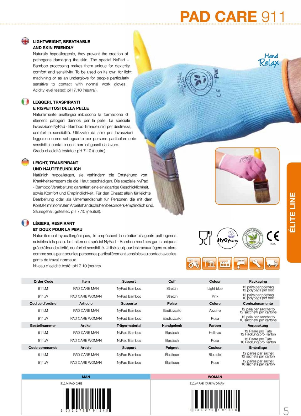 To be used on its own for light machining or as an underglove for people particularly sensitive to contact with normal work gloves. Acidity level tested: ph 7.10 (neutral).