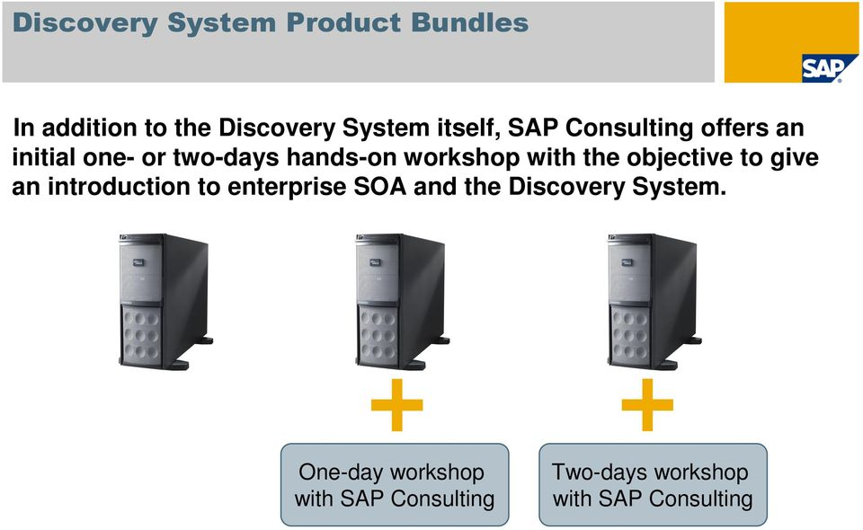 objective to give an introduction to enterprise SOA and the Discovery System.