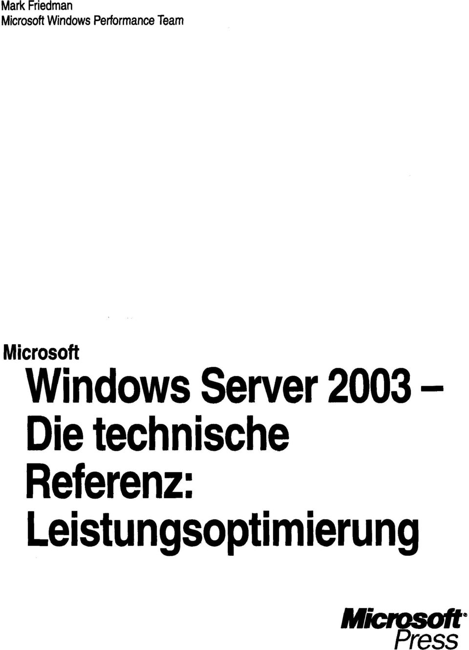 Windows Server 2003 - Die