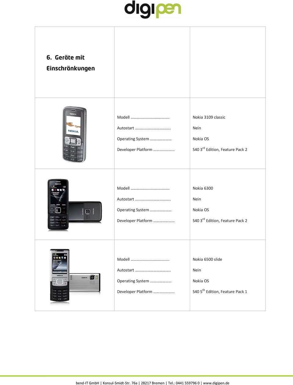 Nokia 6300 S40 3 rd Edition, Feature Pack 2