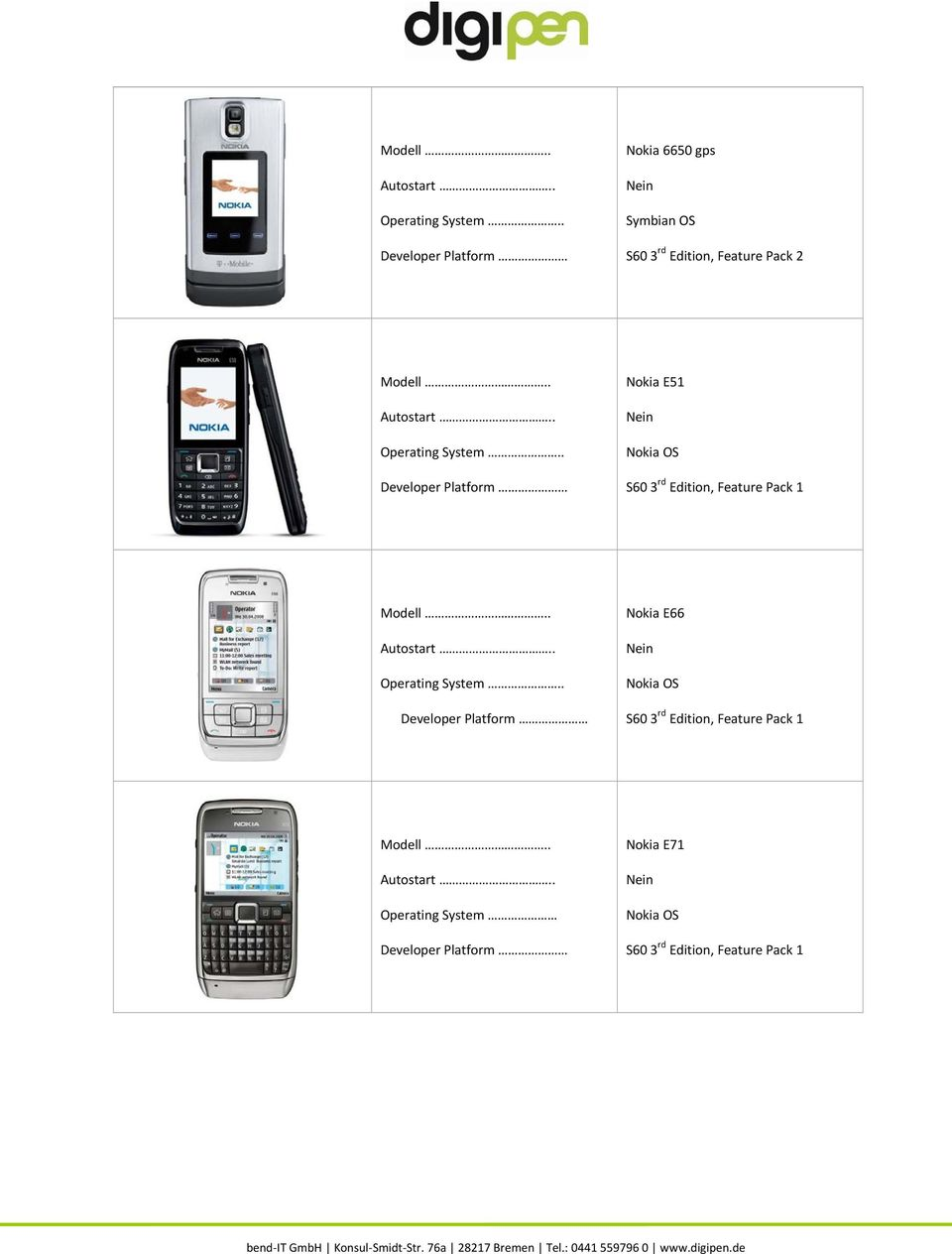 . Nokia E51 S60 3 rd Edition, Feature Pack 1.