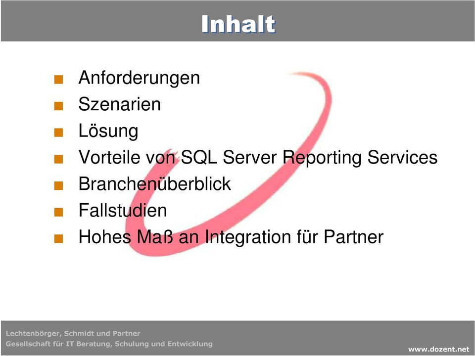 Reporting Services Branchenüberblick