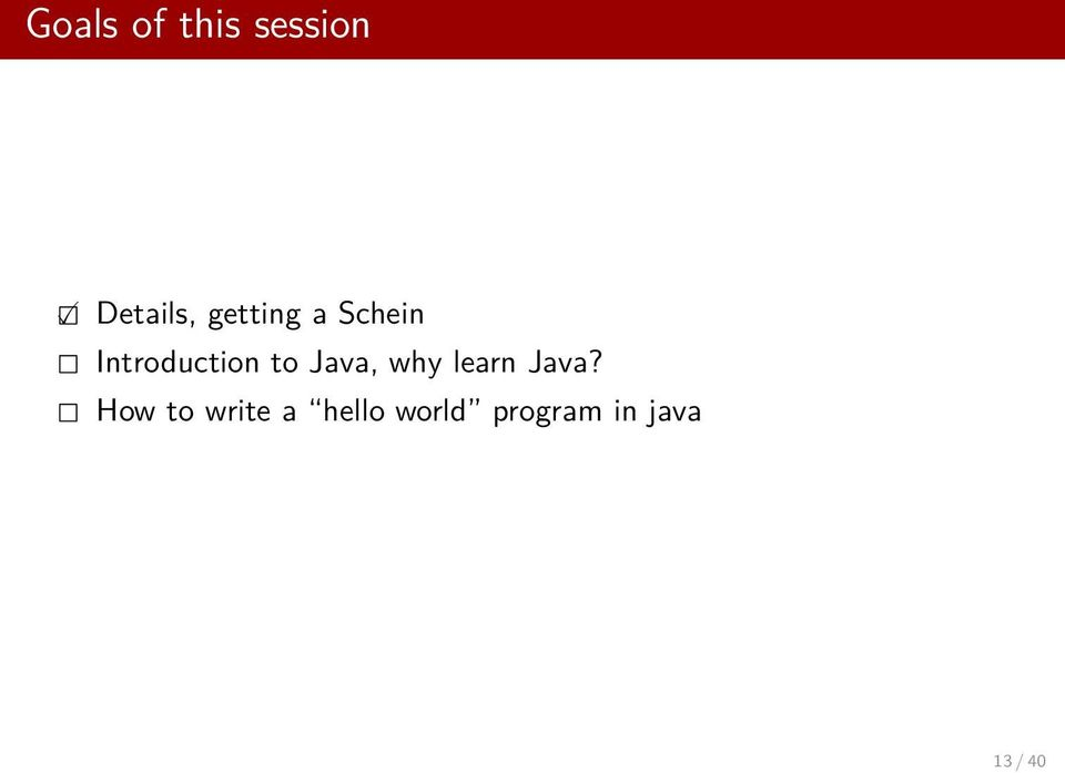 Java, why learn Java?