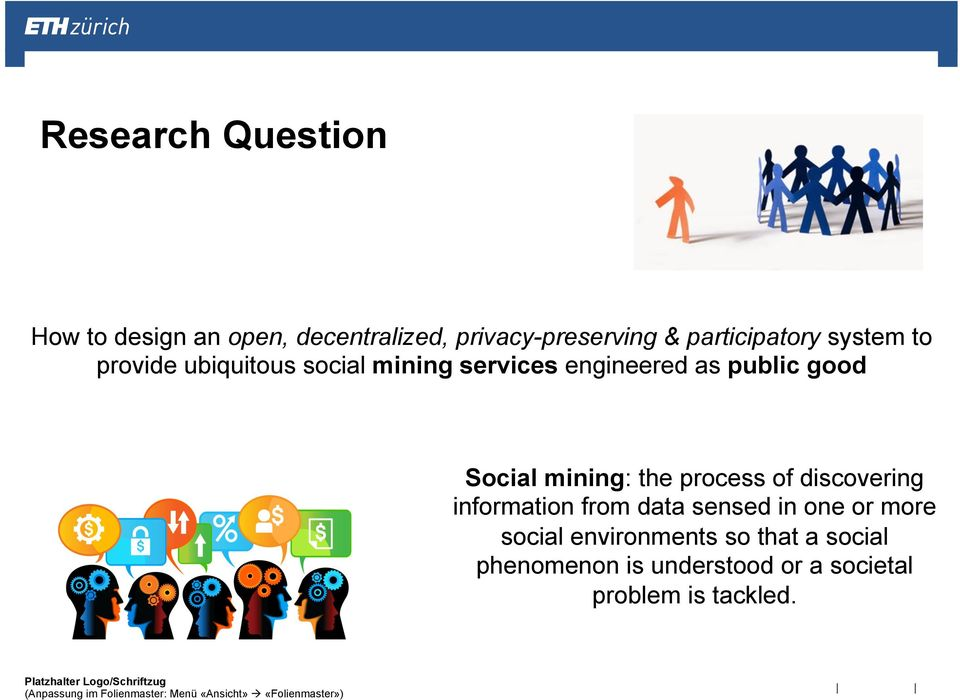 good Social mining: the process of discovering information from data sensed in one or
