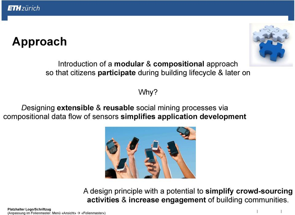 Designing extensible & reusable social mining processes via compositional data flow of sensors