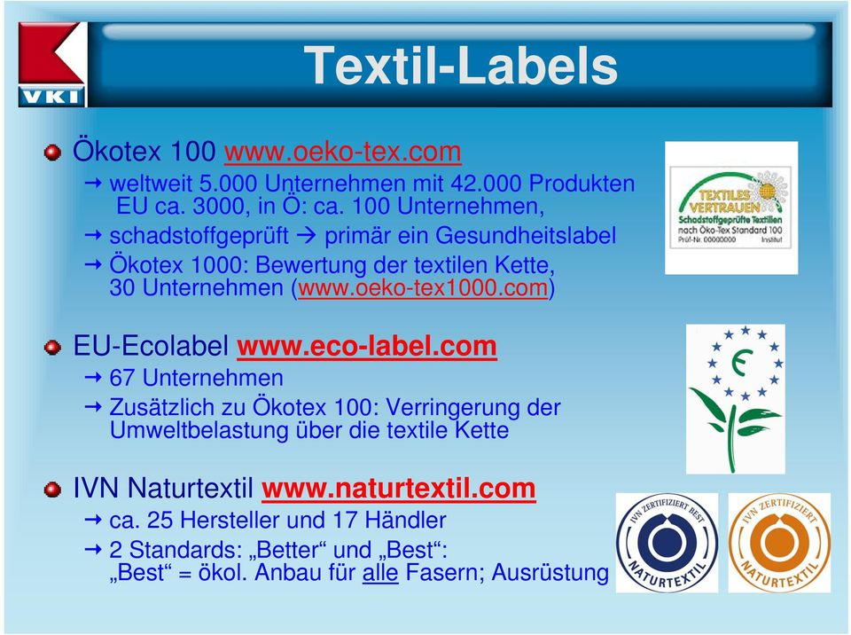oeko-tex1000.com) EU-Ecolabel www.eco-label.