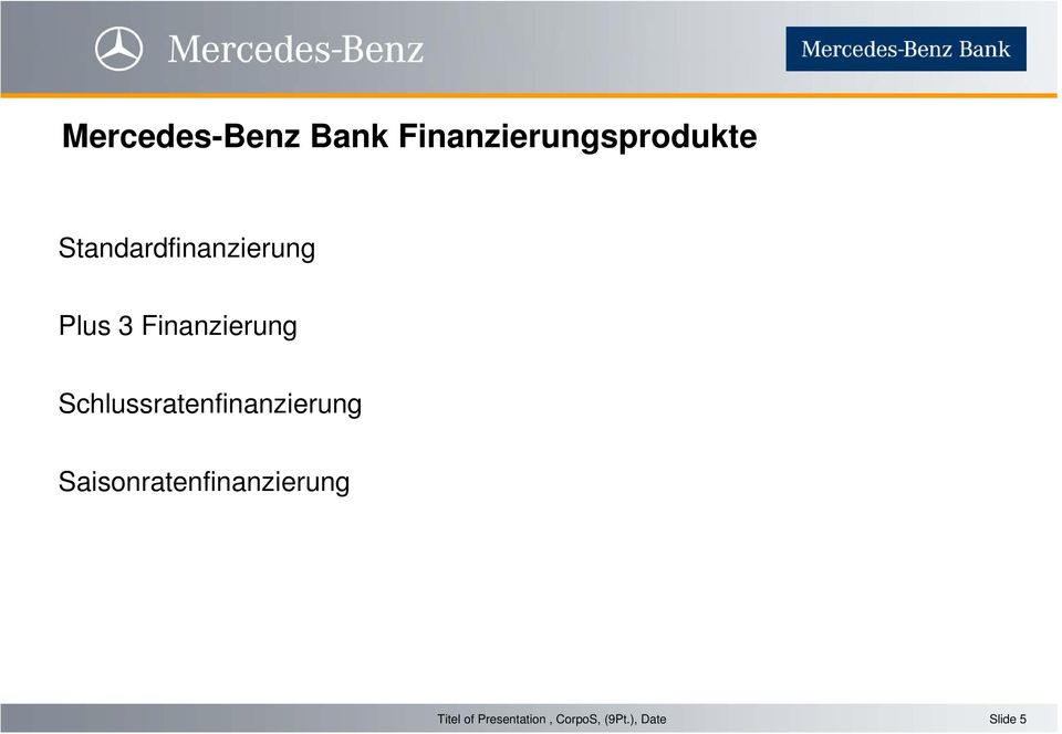 Standardfinanzierung Plus 3