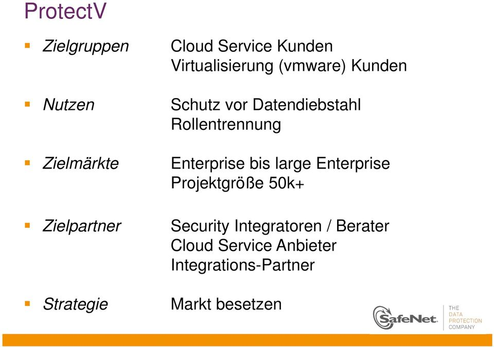 Rollentrennung Enterprise bis large Enterprise Projektgröße 50k+ Security