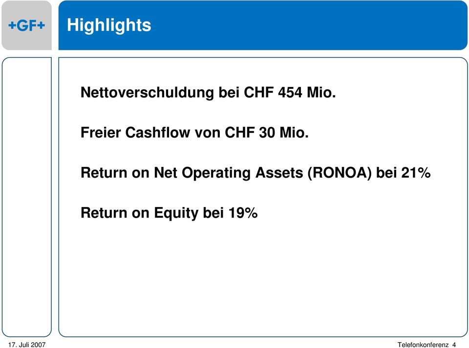 Return on Net Operating Assets (RONOA)