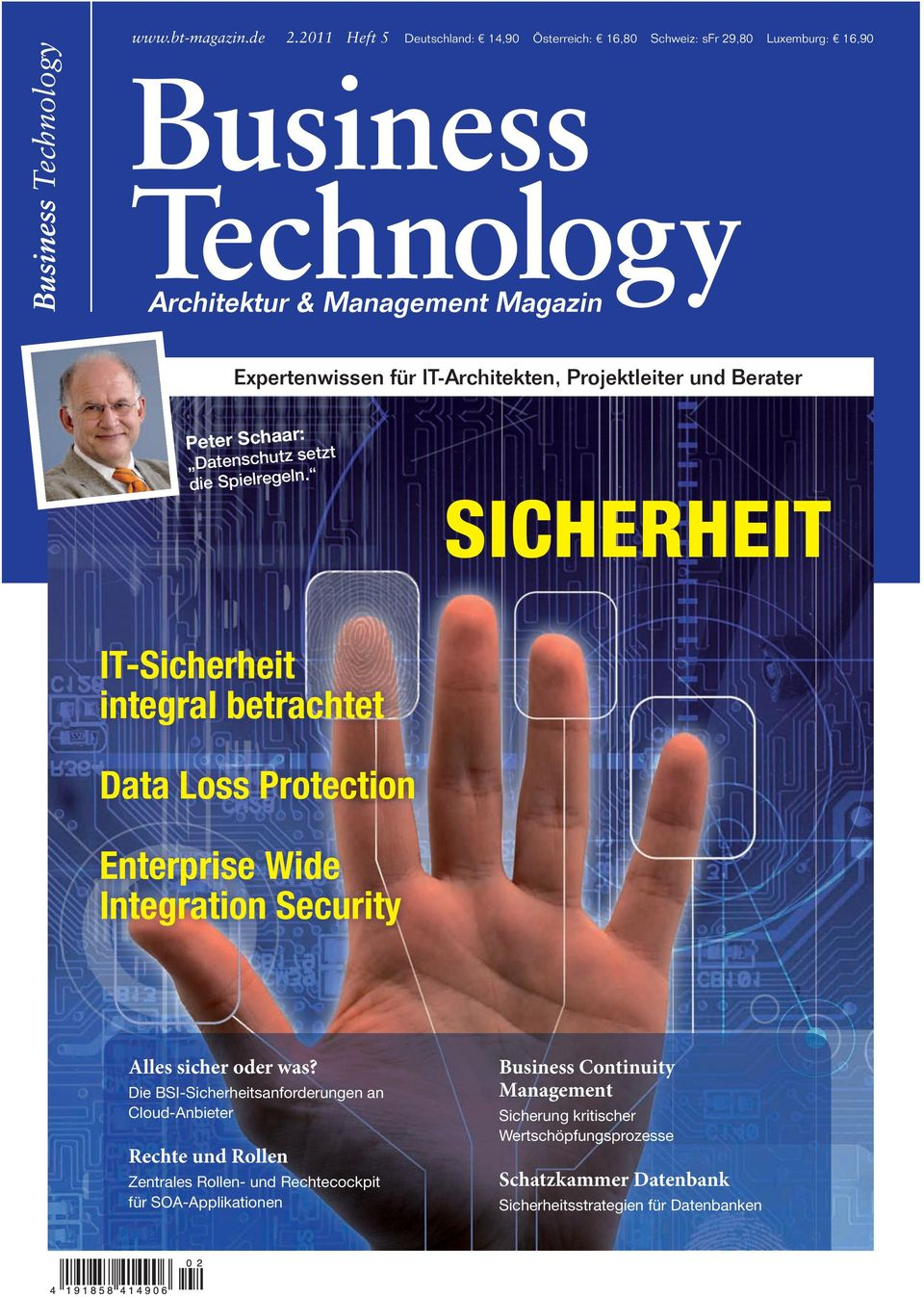 SICHERHEIT IT-Sicherheit integral betrachtet Data Loss Protection Enterprise Wide Integration Security Alles sicher oder was?