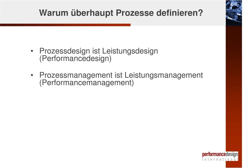 (Performancedesign) Prozessmanagement