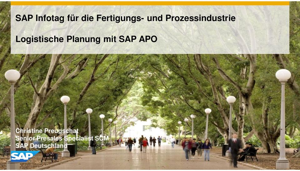 mit SAP APO Christine Preugschat
