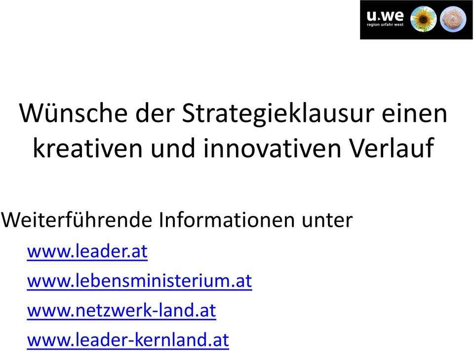 Informationen unter www.leader.at www.