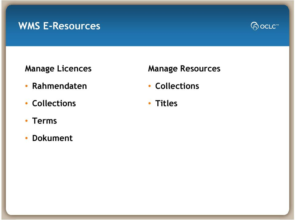 Collections Manage