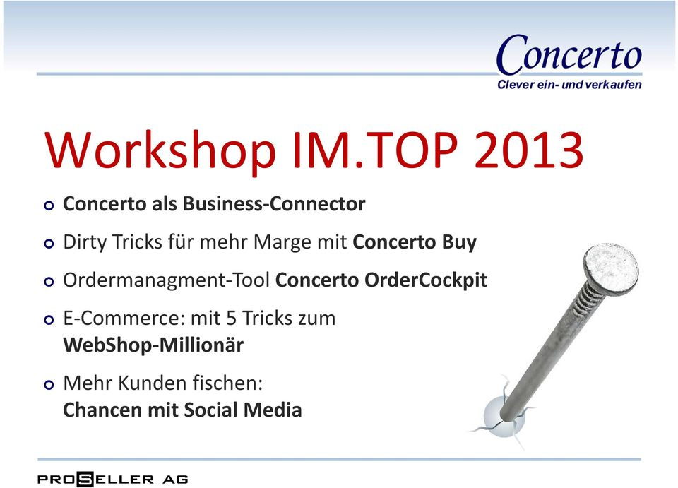 mehr Marge mit Concerto Buy Ordermanagment Tool Concerto