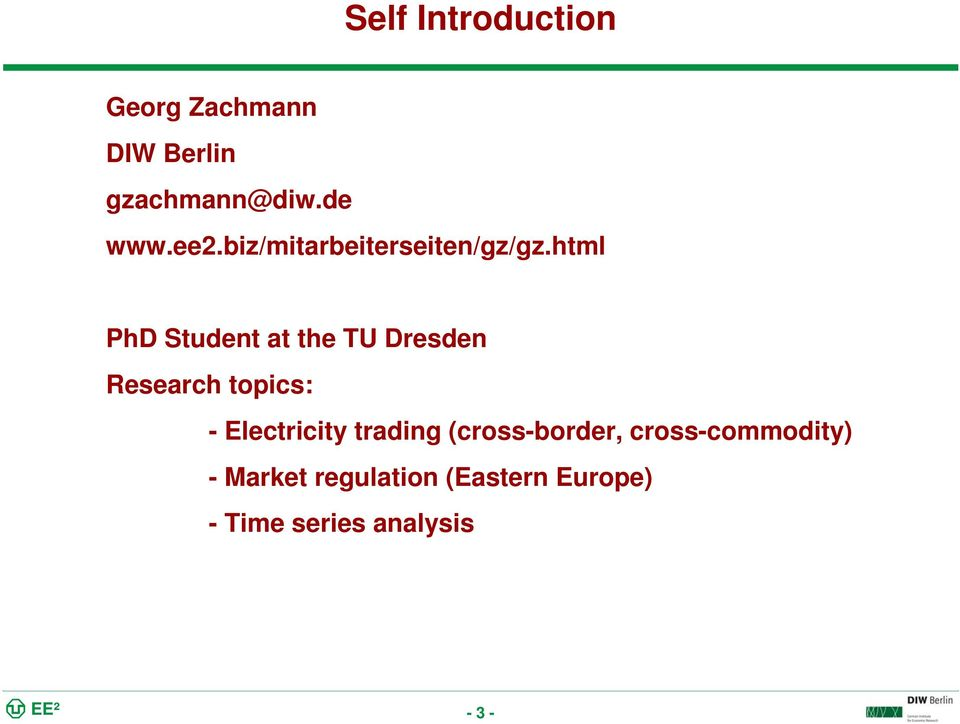 html PhD Student at the TU Dresden Research topics: - Electricity