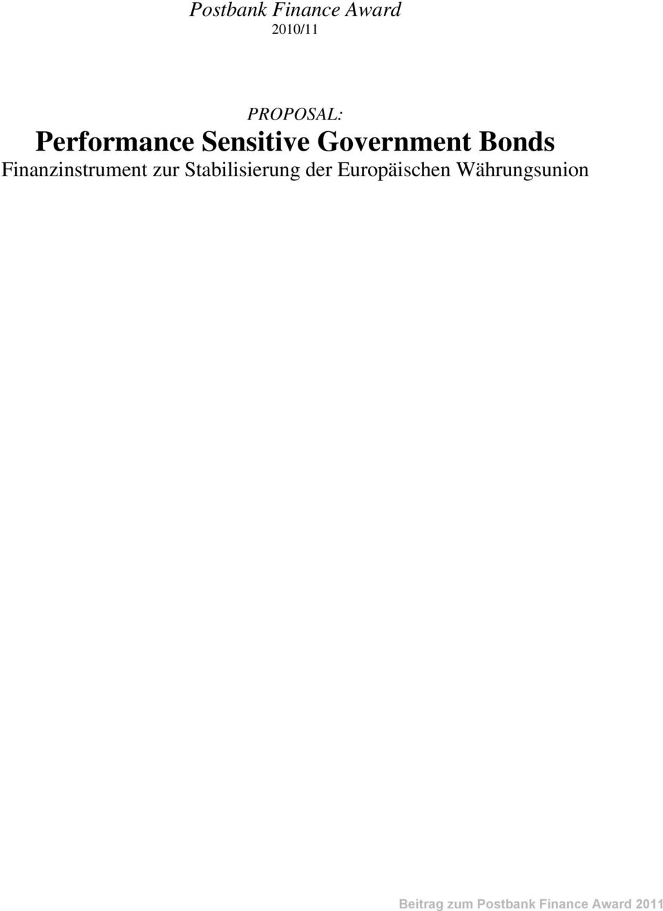 Government Bonds Finanzinstrument