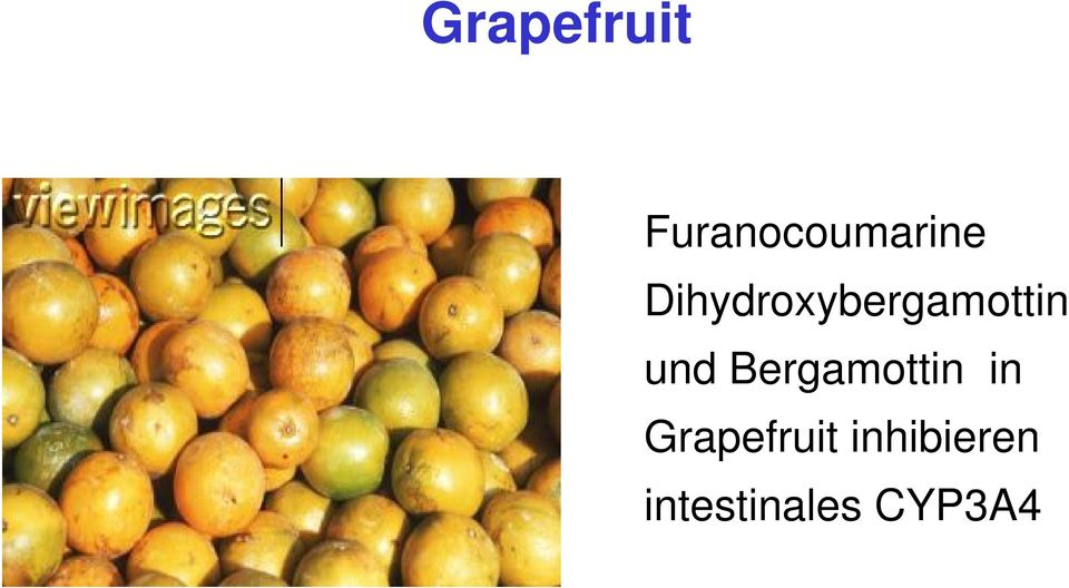 Bergamottin in Grapefruit