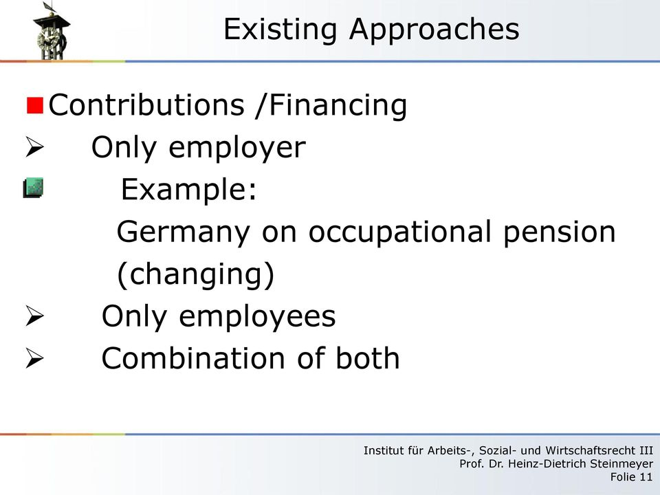 occupational pension (changing)