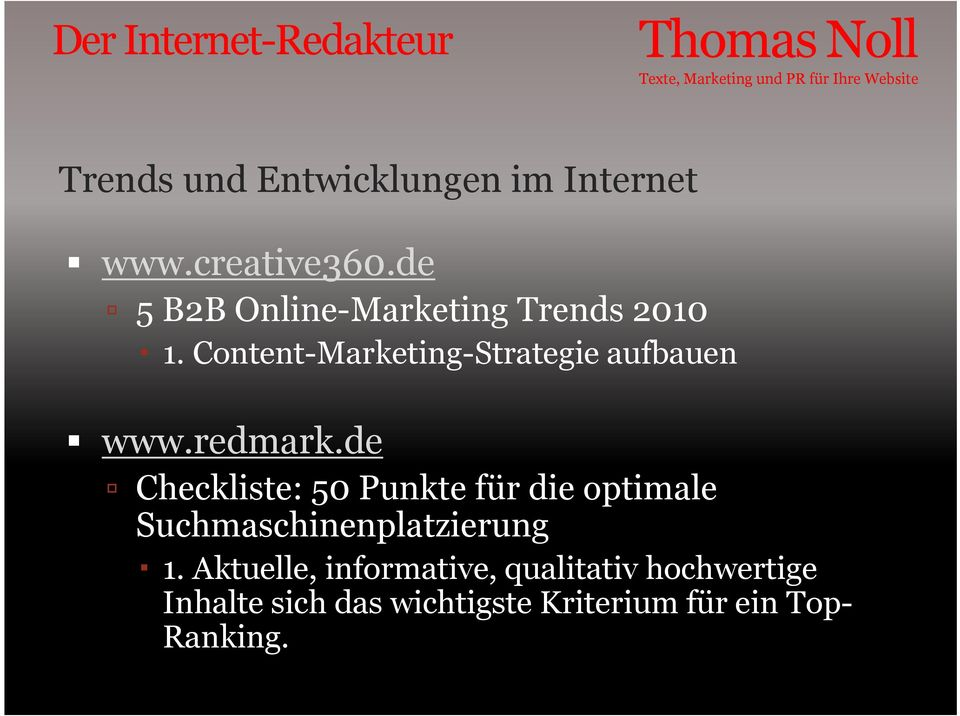 Content-Marketing-Strategie aufbauen www.redmark.