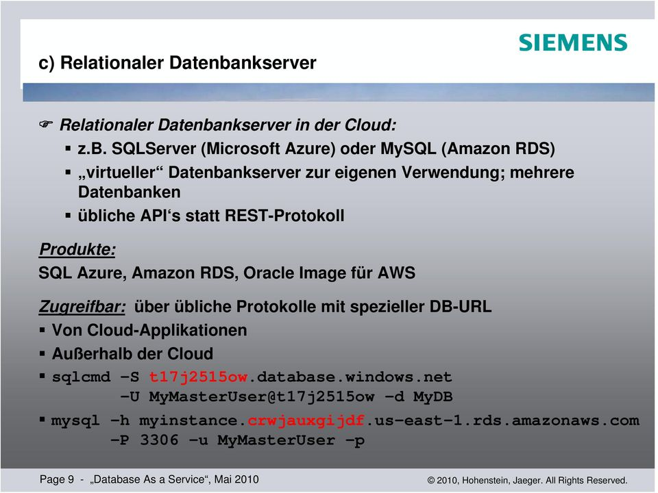 nkserver in der Cloud: z.b.