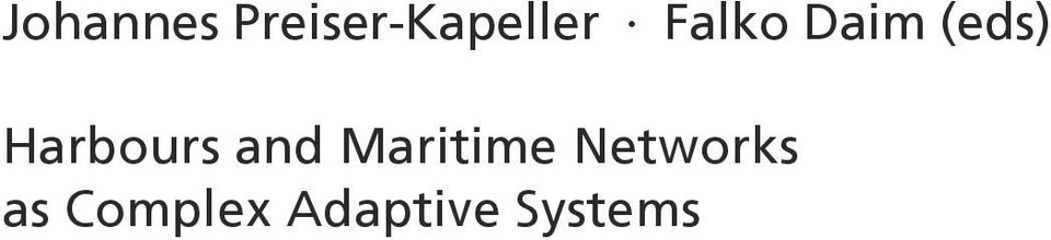and Maritime Networks as