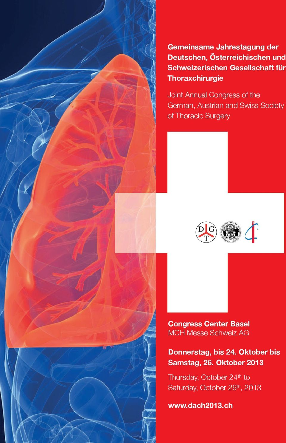 Thoracic Surgery Congress Center Basel MCH Messe Schweiz AG Donnerstag, bis 24.