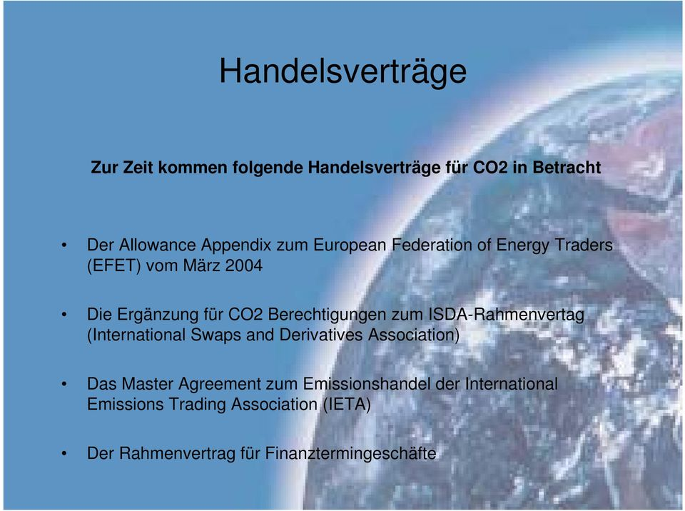 zum ISDA-Rahmenvertag (International Swaps and Derivatives Association) Das Master Agreement zum
