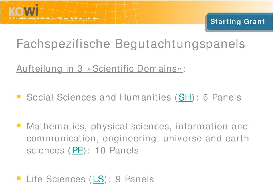 (SH): 6 Panels Mathematics, physical sciences, information and