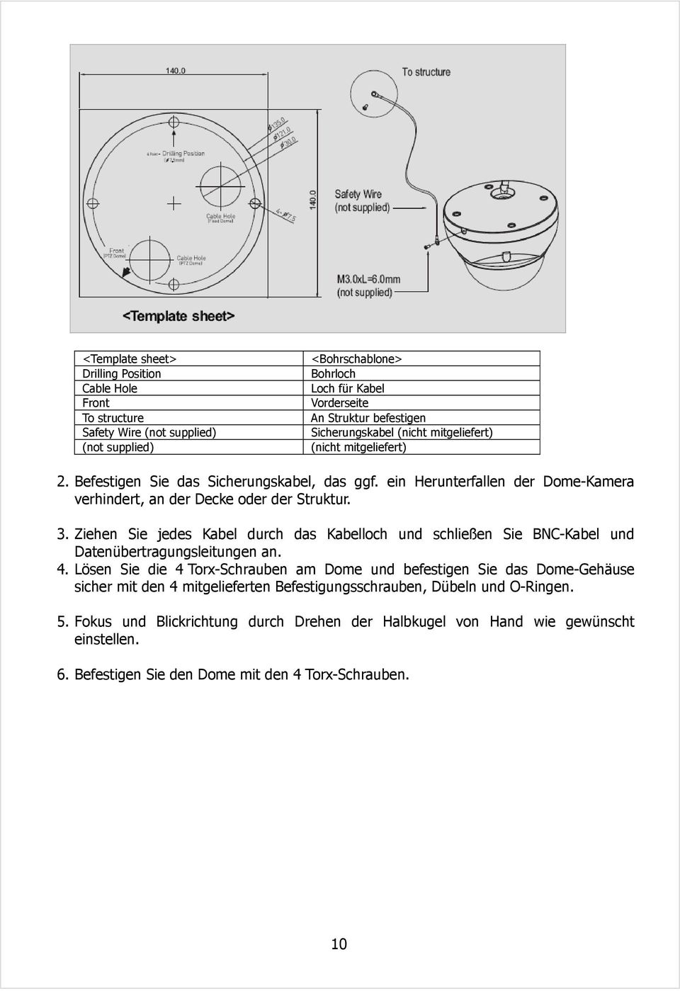 vandalensichere dome netzwerk kamera betriebsanleitung deutsche version 1 0 modell nld pdf. Black Bedroom Furniture Sets. Home Design Ideas