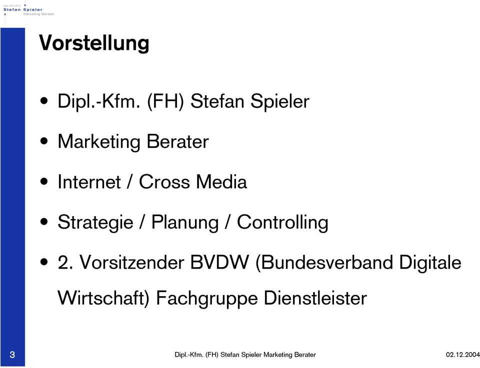 Cross Media Strategie / Planung / Controlling 2.