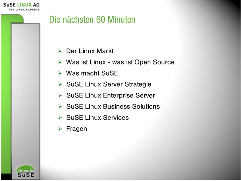 Linux Server Strategie SuSE Linux Enterprise