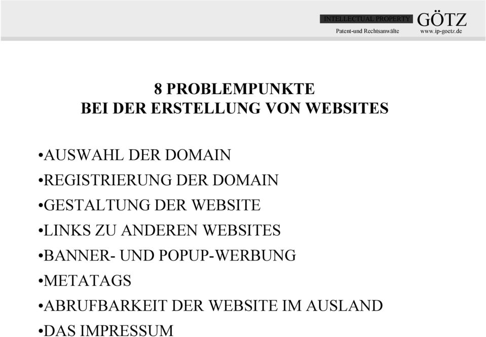 WEBSITE LINKS ZU ANDEREN WEBSITES BANNER- UND